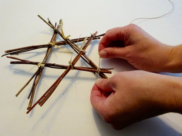 Twine and stick star