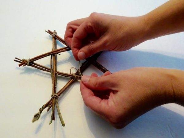 Make a star out of sticks