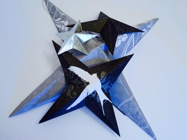 DIY folded paper stars