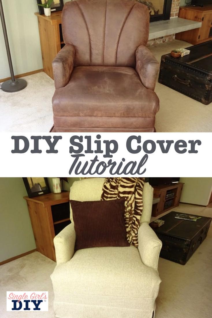 DIY slip cover tutorial
