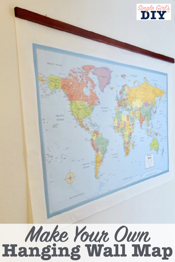 Make your own hanging wall map
