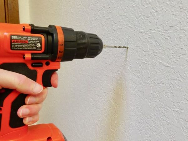 hole for wall mount hair dryer hook