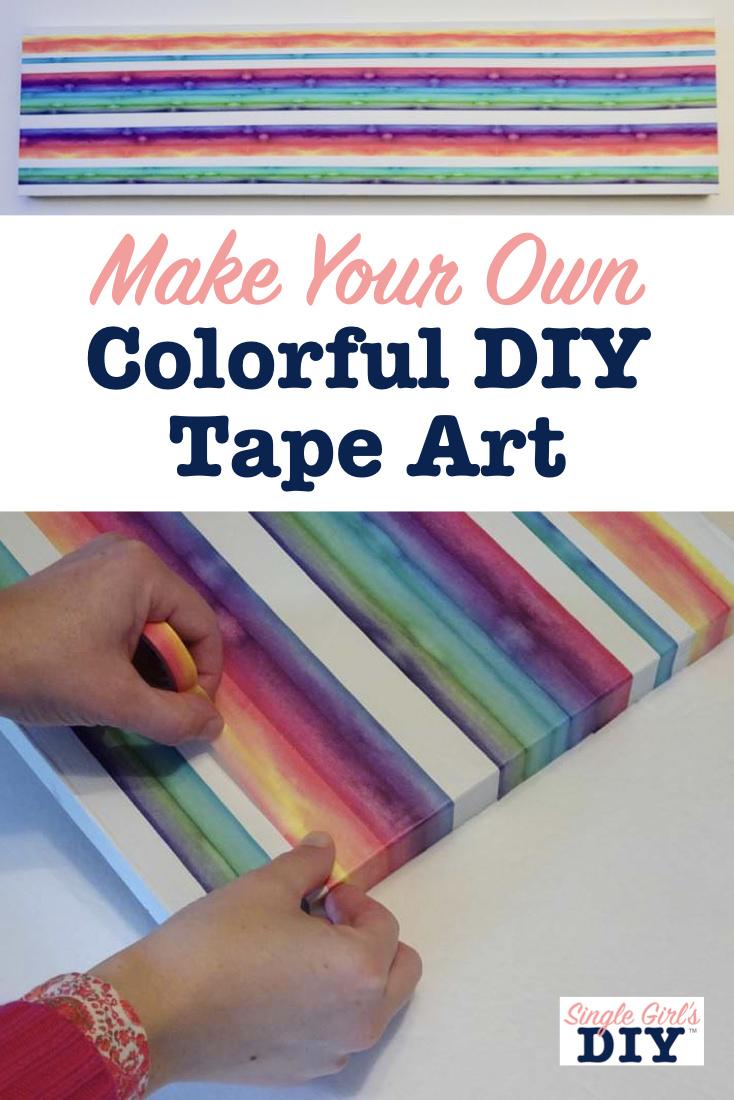 DIY tape art