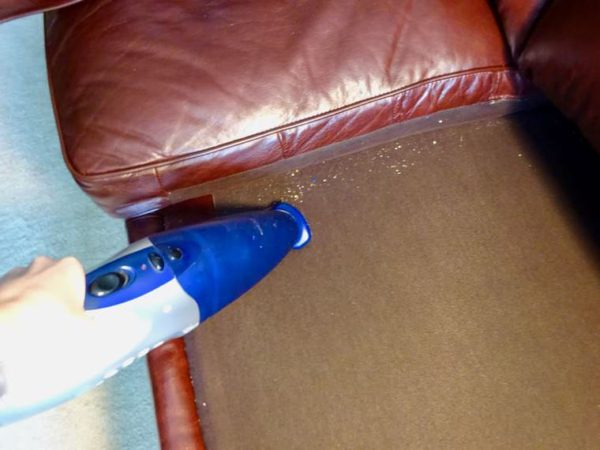 Clean under couch cushions for home care