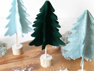 3D felt Christmas tree Pattern
