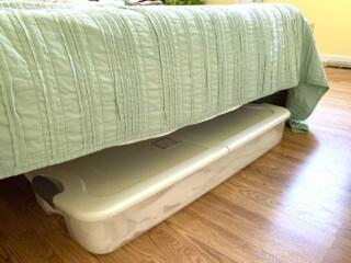 underbed organizer under a mattress