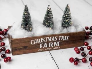 Christmas tree farm centerpiece