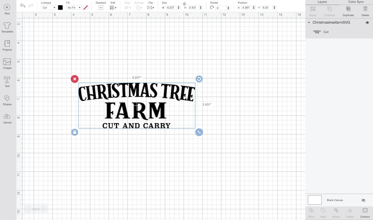 Cricut design program screenshot