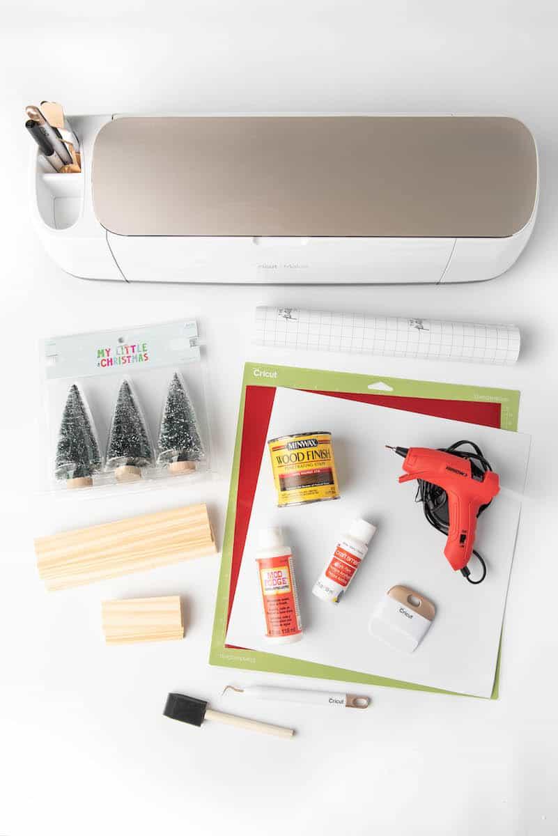 Christmas tree farm centerpiece craft supplies