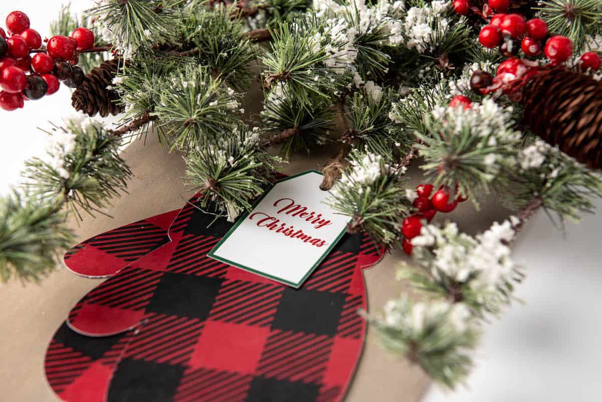 Christmas mittens shutter craft styled