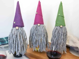 DIY Gnome Wine Bottle Covers