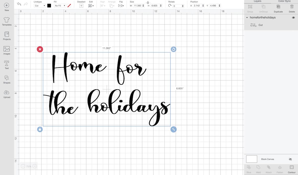 Home for the Holidays Cricut Art