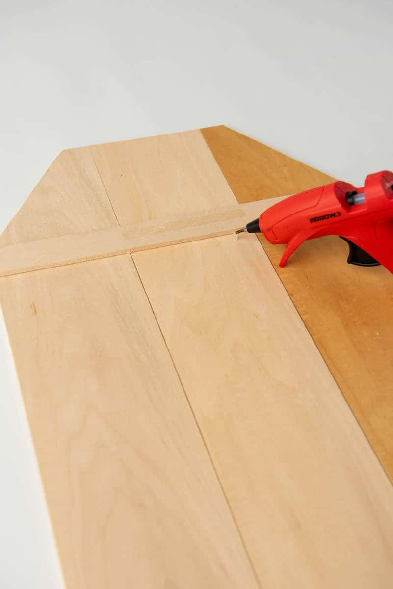 hot glueing wood craft