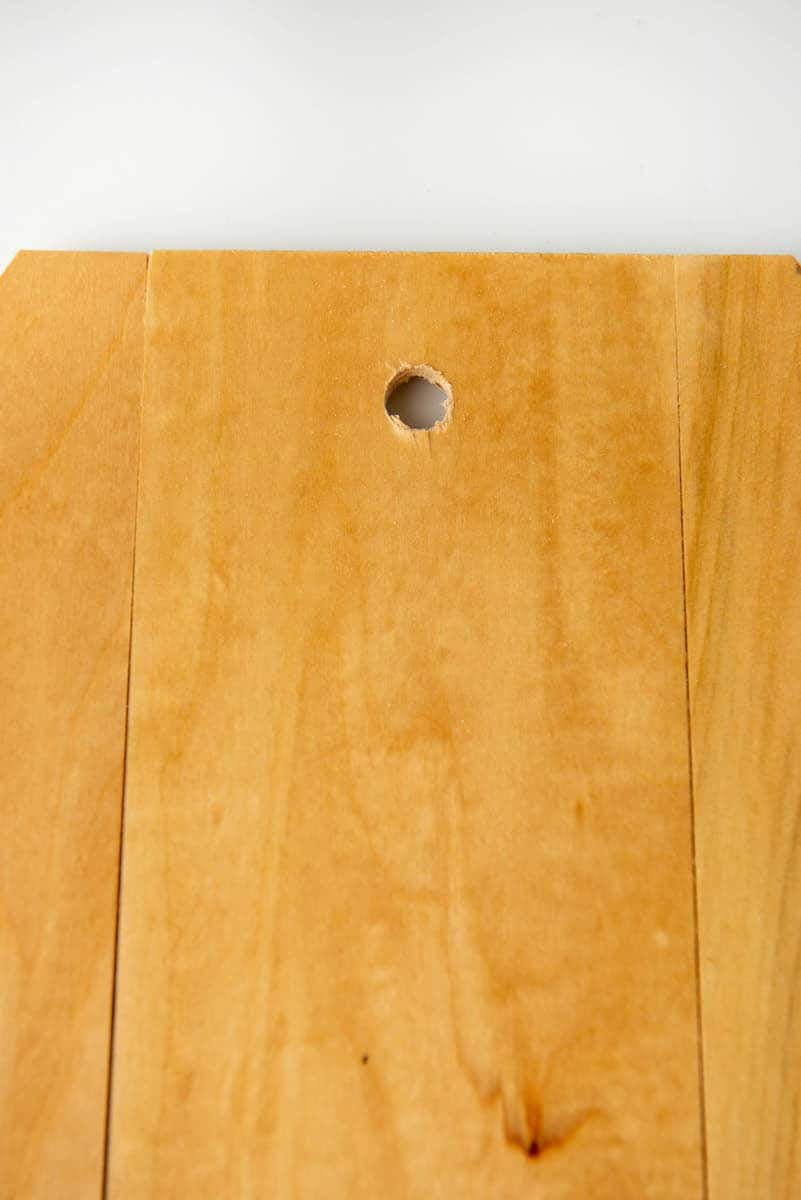 hole in wooden craft