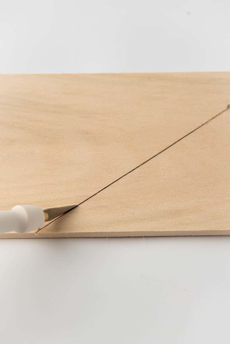 diagonal cut on wood