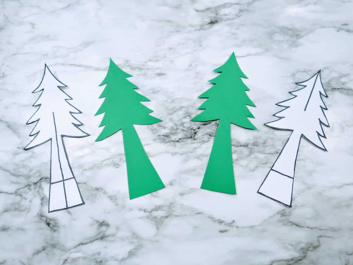 Paper Christmas Trees for Craft Project