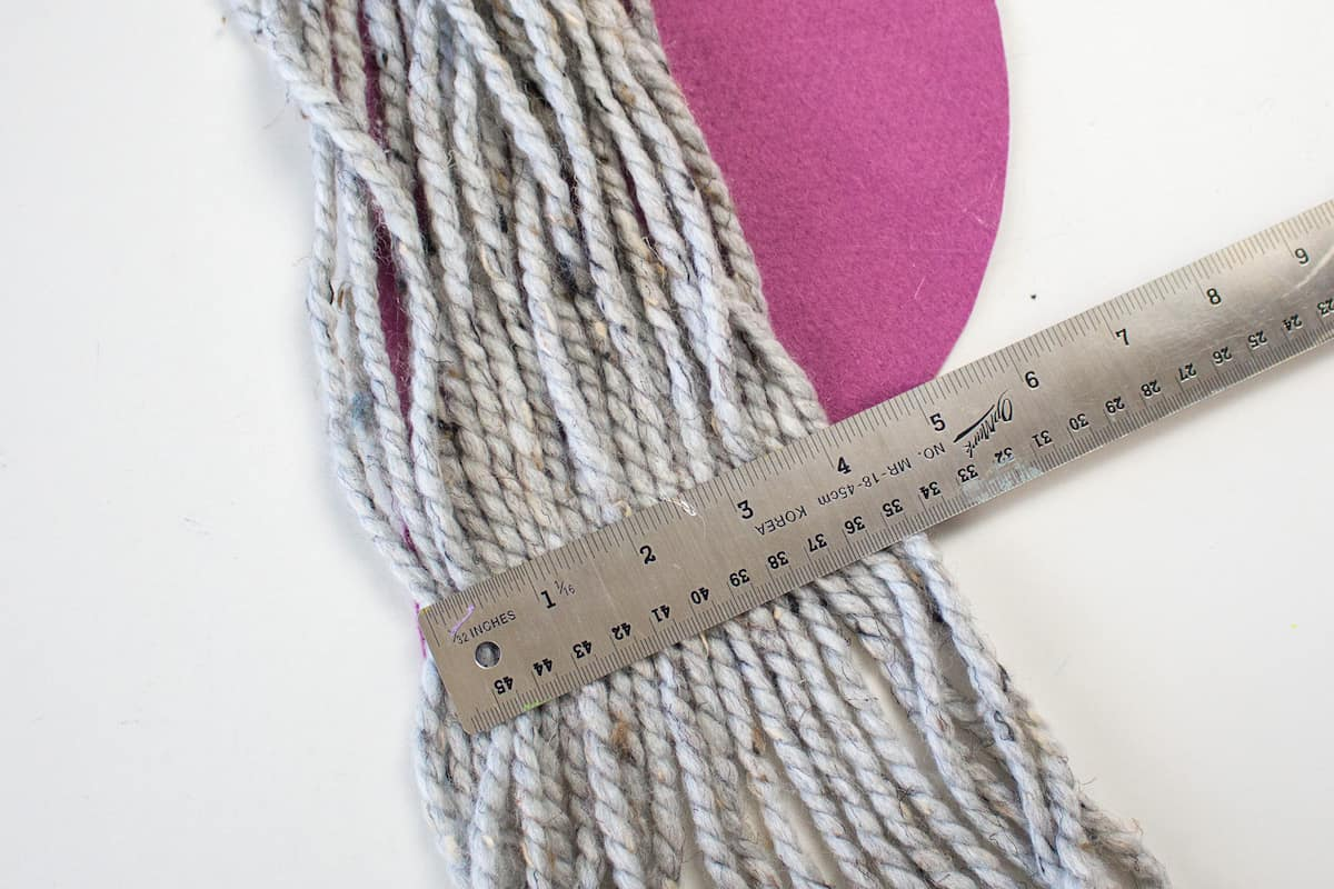 Ruler and Yarn for Craft Project