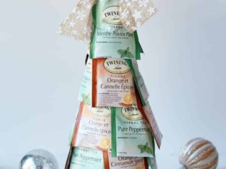 Christmas tree made from tea bags