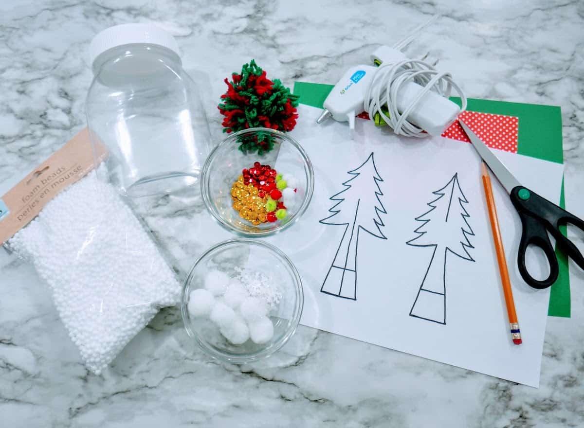 Waterless Snow Globe Craft Supplies
