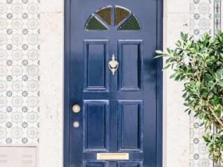 blue exterior door