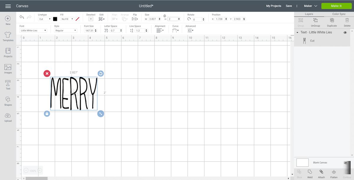 Adjusting Letter Height in Cricut Design Space