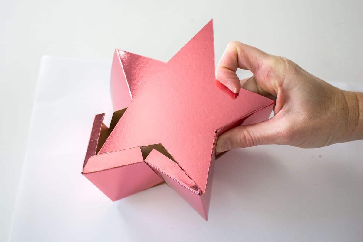 Assembling DIY Holiday Star Gift Box