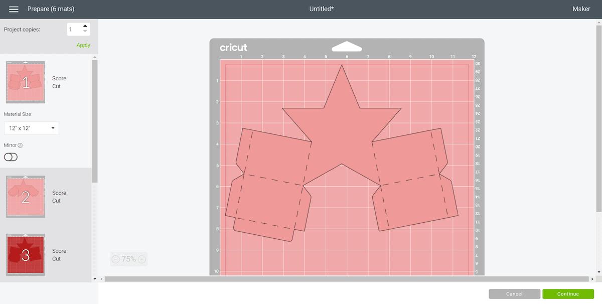 Cricut Design Space Star Box