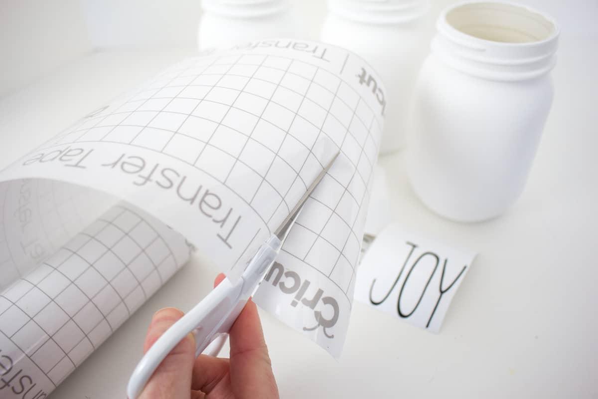 Cutting Cricut Transfer Paper