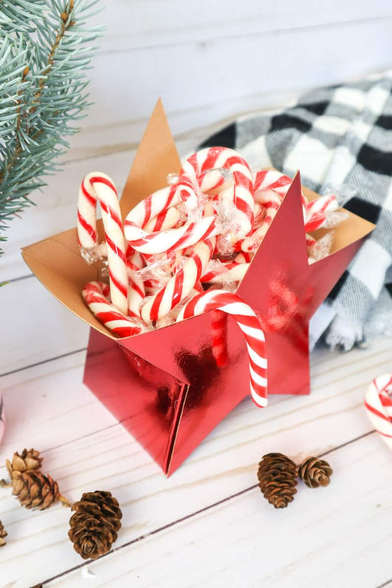 star Gift Box with Candy Canes