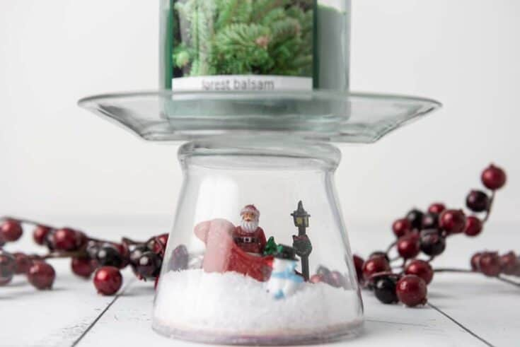 Christmas Pedestal Candle Holder