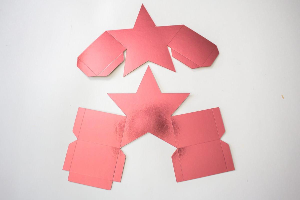 DIY Star Gift Box Cut Out