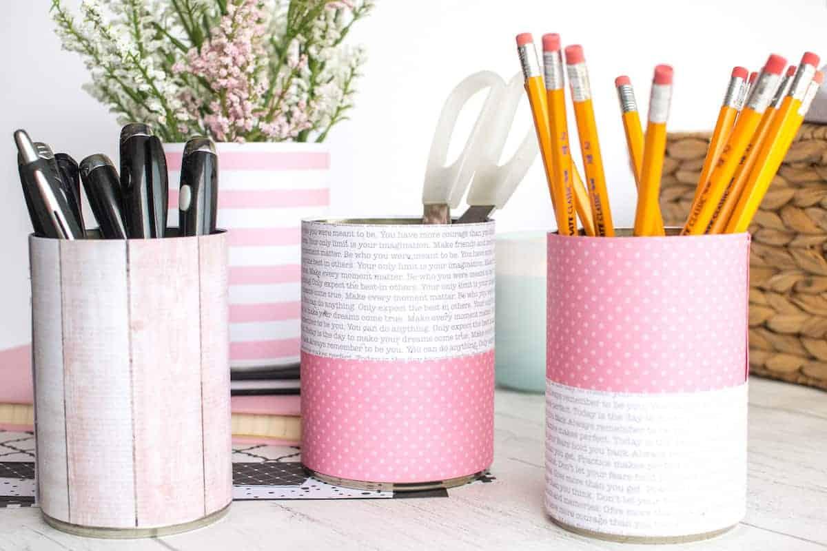DIY Tin Can Organizers Ideas