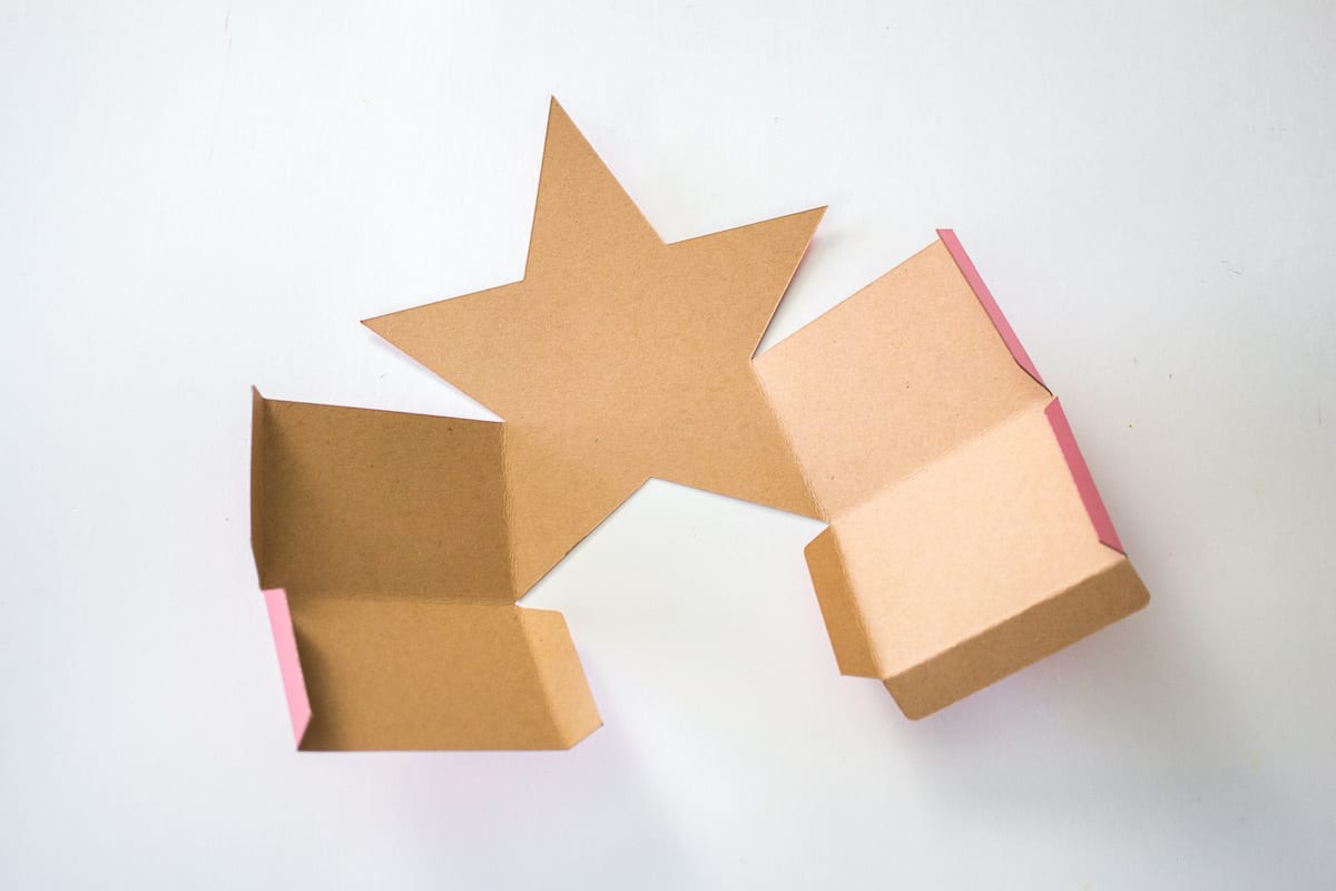 Folded DIY Holiday Star Gift Box
