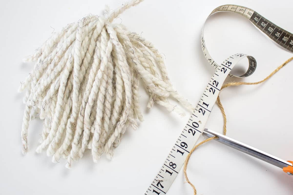 Measuring and Cutting Twine