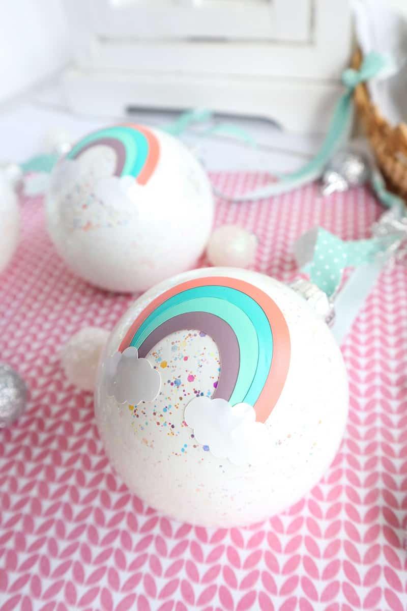 Rainbow glass ball Ornament