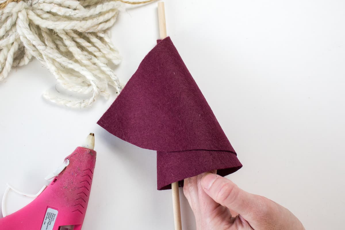 Rolling Felt to Make Cone Hat