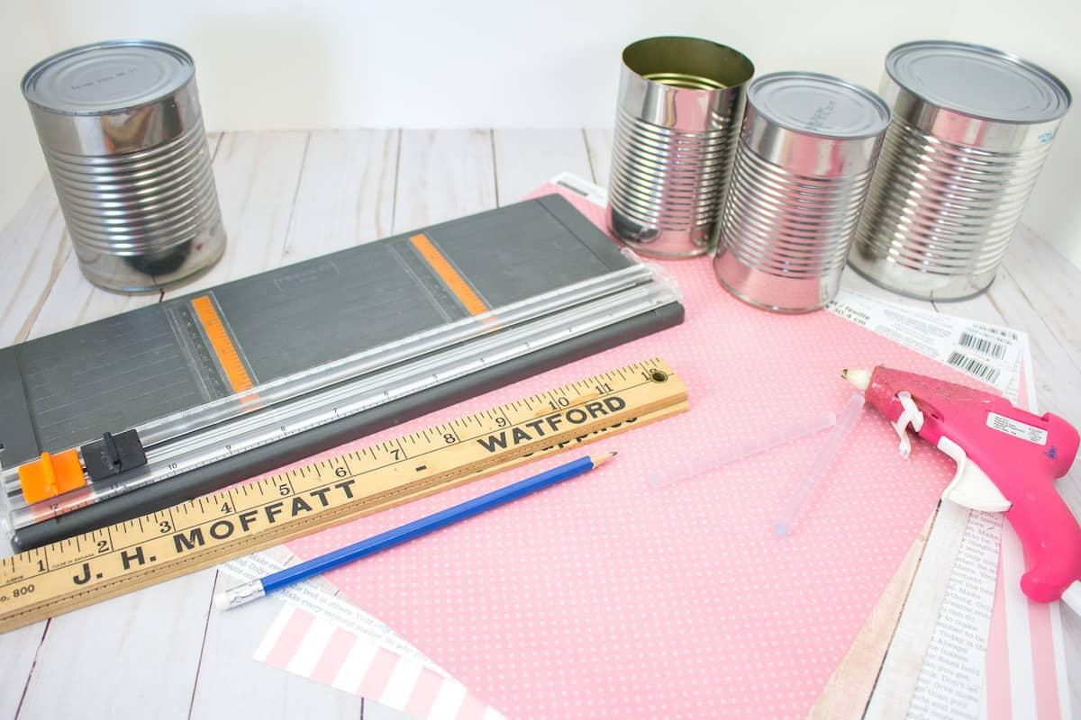 Tin Can Organizer Supplies