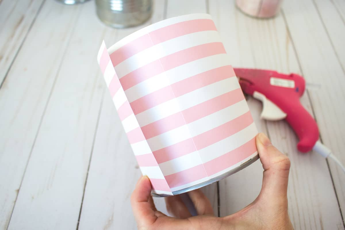 Tin Can Wrapper in Paper