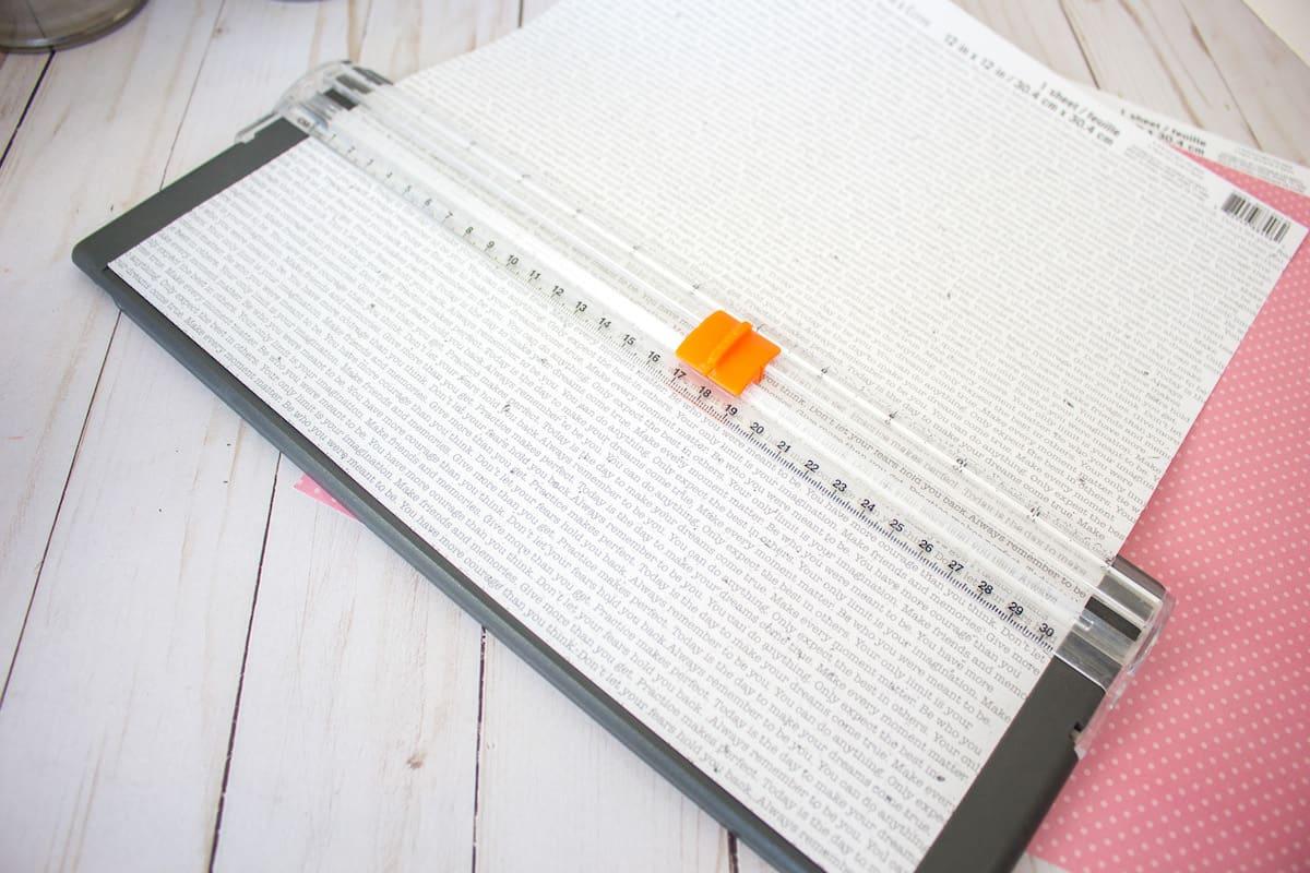 Using Cutter to Cut Scrapbook Paper
