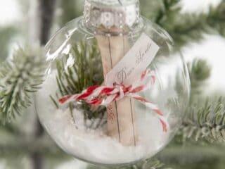 DIY Letter to Santa Ornament