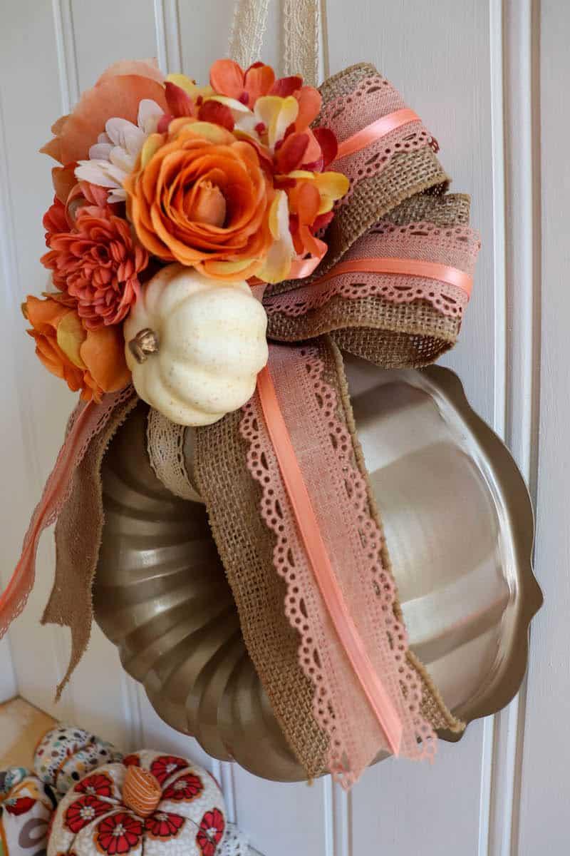DIY Autumn Bundt Pan Wreath Craft