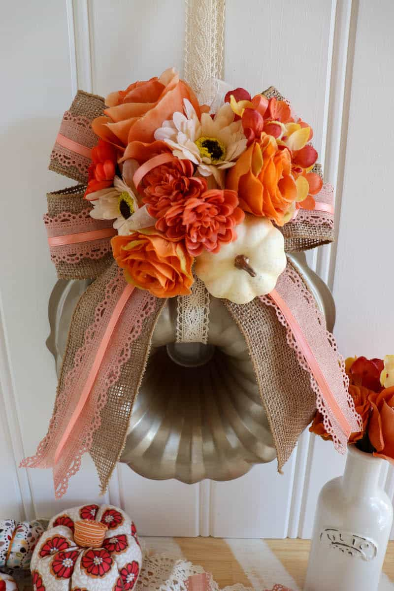 How to make a Fall Bundt Pan Wreath for the door