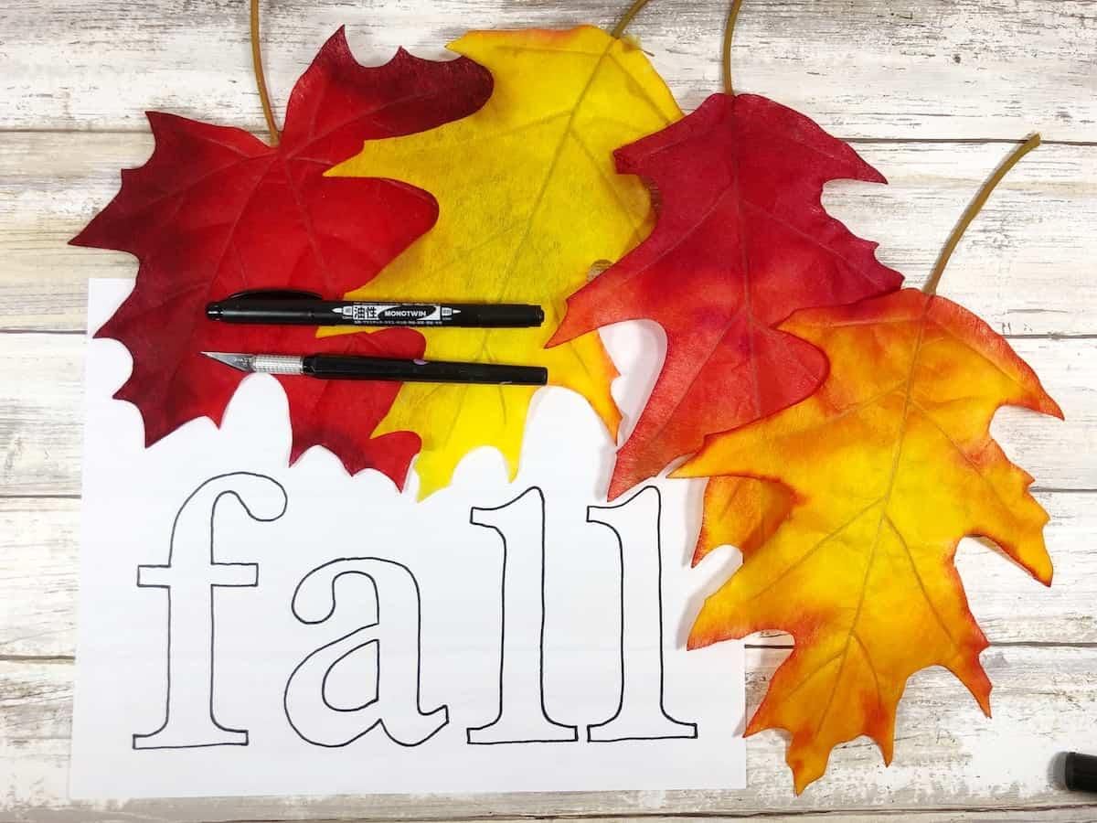 Dollar Store Fall Leaf Banner Craft Supplies