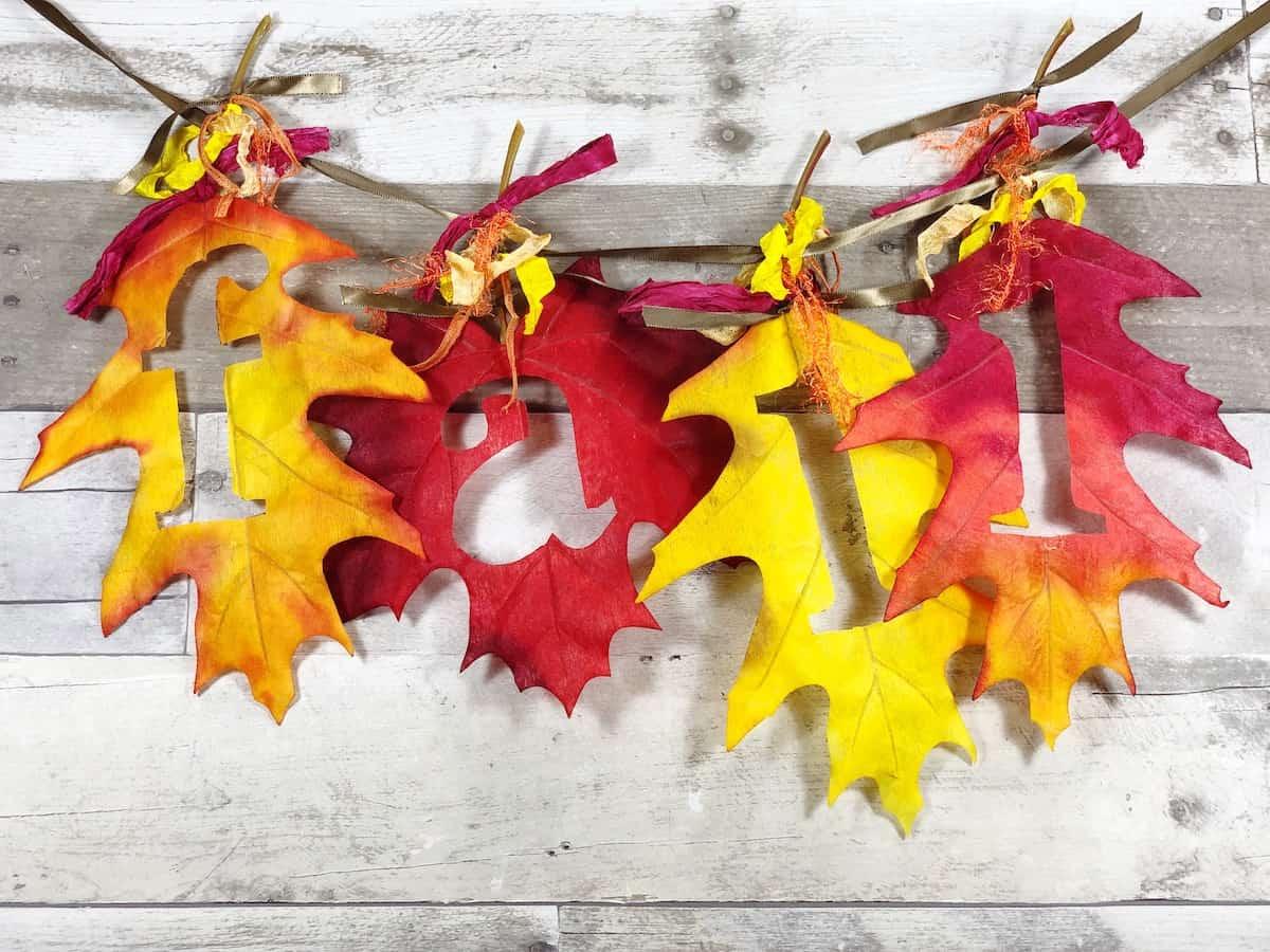 Fall Leaf Banner Craft