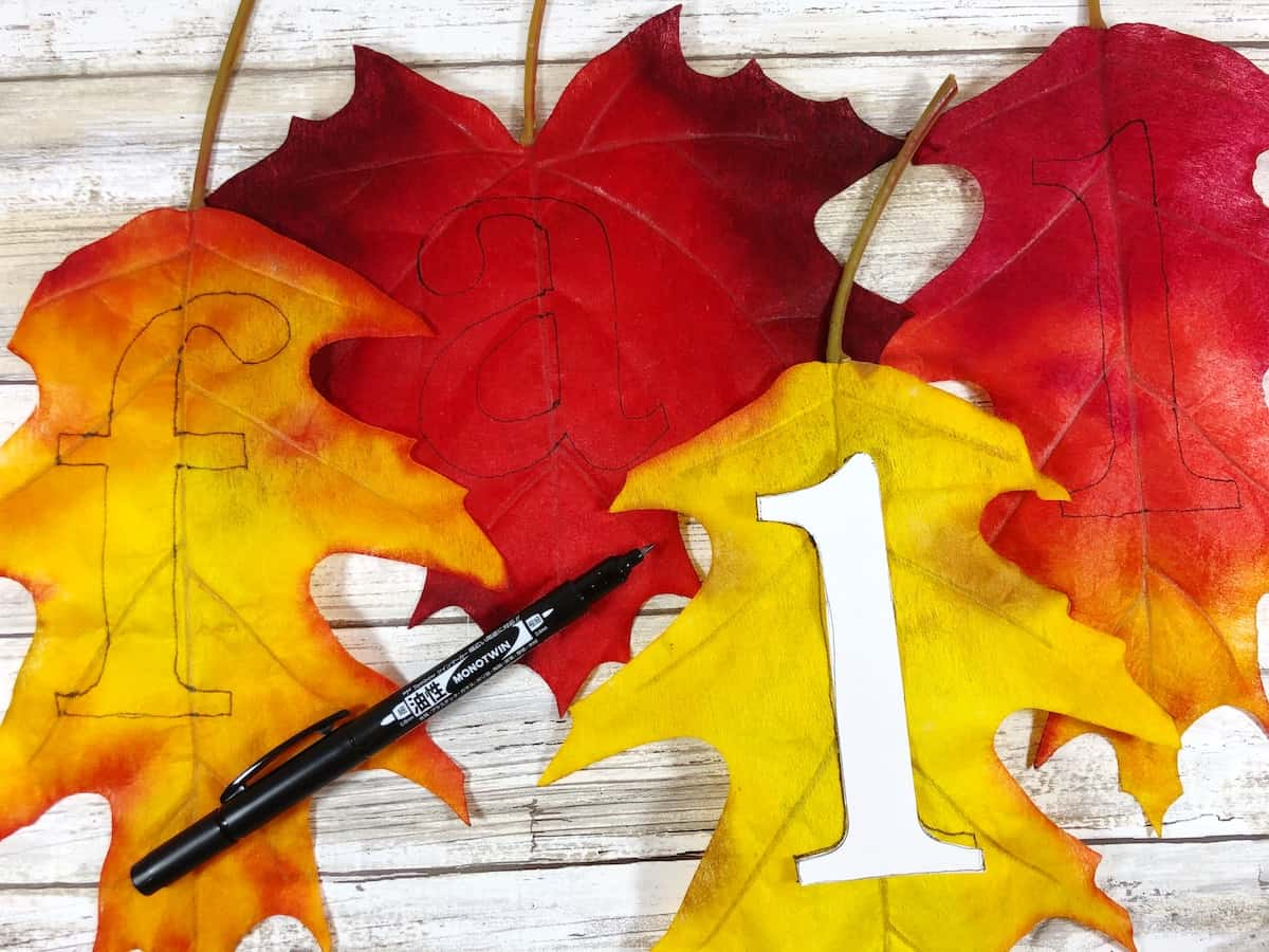 Fall Leaf Banner Letter Cutouts
