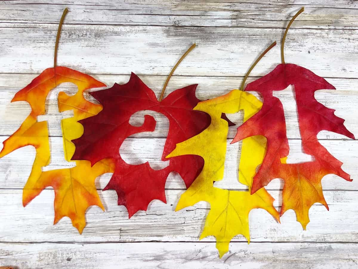 Fall Letter Cut Out Leaf Banner