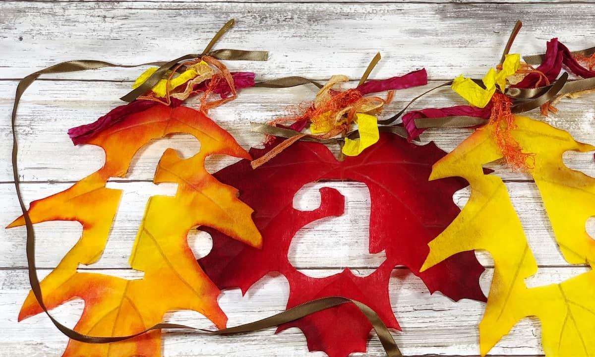 Fall leaf banner DIY