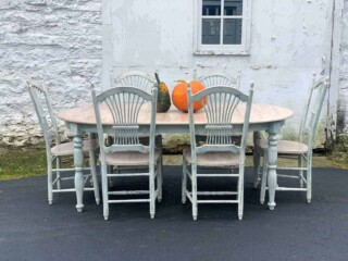thrift store furniture makeover without sanding or priming