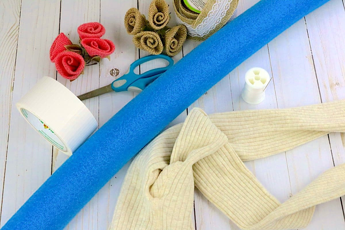 DIY Pool Noodle Wreath Supplies