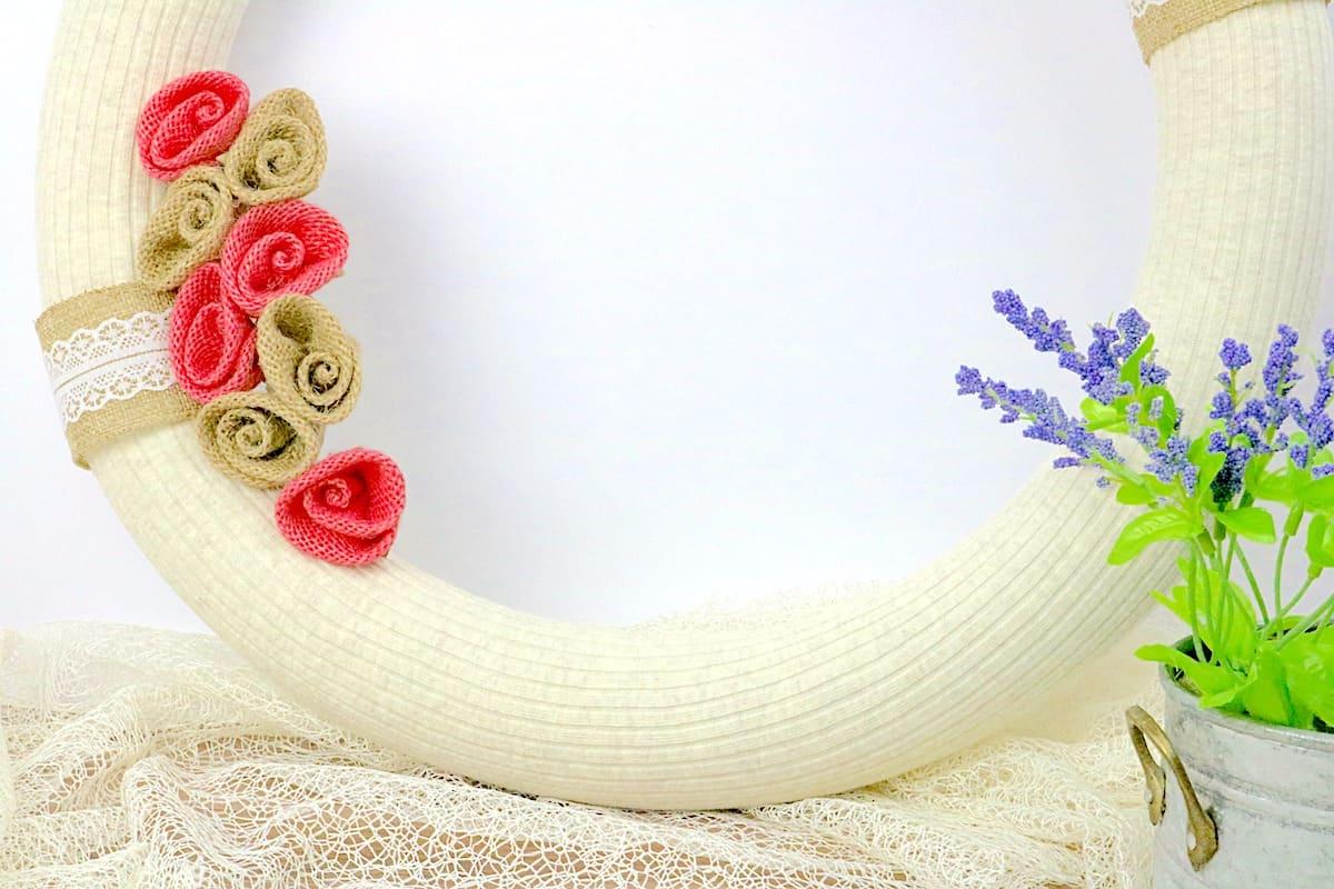 DIY Pool Noodle Wreath Close Up